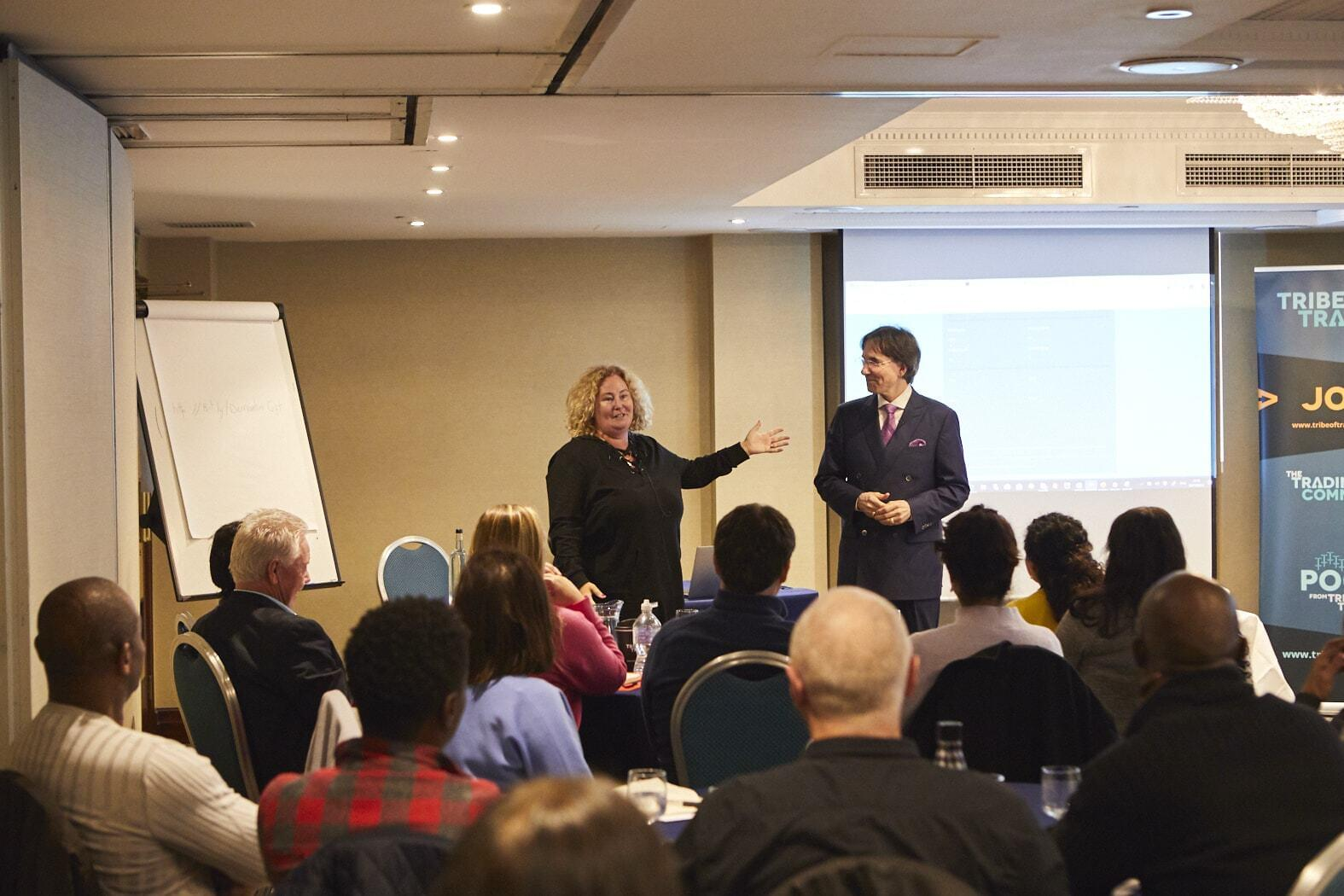 On stage with JudyVee and Dr John Demartini